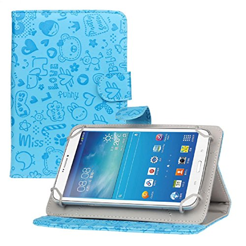 Price comparison product image Mchoice For 7 inch Android Tablet New Universal Leather Flip Stand Case Cover (Blue)