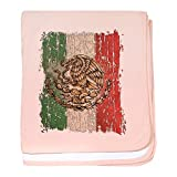 Royal Lion Baby Blanket Mexican Flag Mexico Grunge - Petal Pink