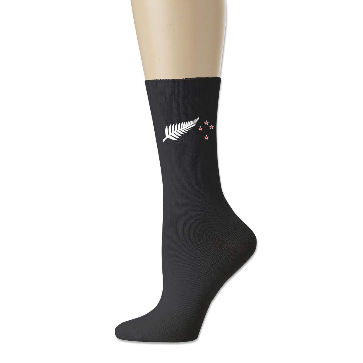 Cotton Crew Bobbysox Ski Socks Unisex Soccer Socks Flag Of New Zealand