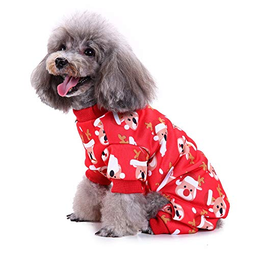 Wind Garments - Gyoume Christmas Pet Dogs Coats Jackets Wind-Proof Garment Winter Warm Overcoats Tops Comfortable Pet Clothes