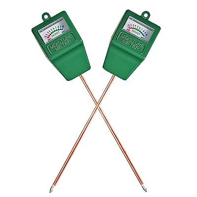 Mudder Soil Moisture Sensor Meter Hydrometer, Soil Water Monitor for Gardening, Farming (2 Pack) : Garden & Outdoor