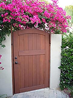 Signature Cedar Wood Gate Arched with Latch Hinges and Wood Jambs & Rose City Wooden Side Yard Gate with Latch Hinges and Wood Jambs ... Pezcame.Com