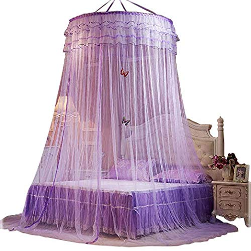 Bed Canopies Shelter for Girls Kids Bedroom Decorations Purple Color Bed Curtain(Little -