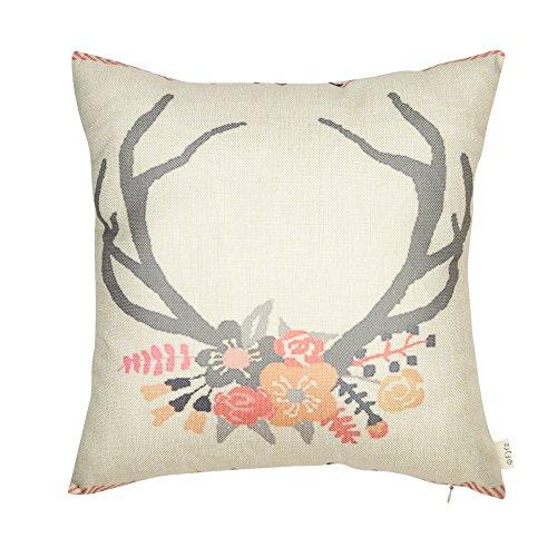Fjfz Cotton Linen Home Decorative Throw Pillow