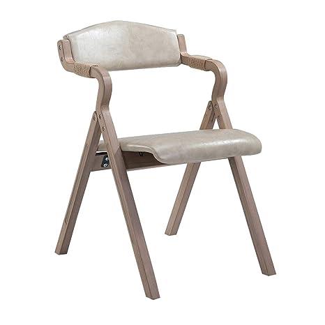 Amazon.com: Silla de comedor retro de madera maciza con ...