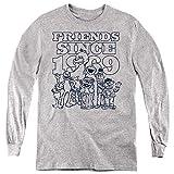 A&E Designs Sesame Street Kids Long Sleeve Friends Since 1969 Heather, SM