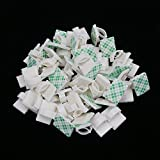 Shintop Adhesive Cable Clips,100pcs Cable Drop Clamp for Car, Home, Office (White)