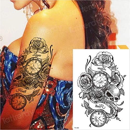 yyyDL tatuajes temporales tatuaje brújula tatuaje tatuaje de larga ...