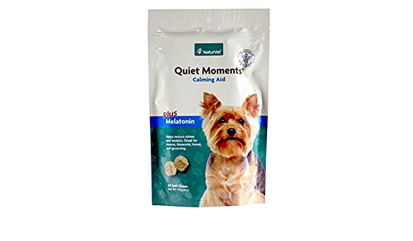 NaturVet QUIET MOMENTS CALMING AID Natural Stress Relief Dog Cat 65 Soft Chews: Amazon.es: Productos para mascotas