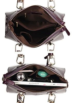 Yafeige Womens/Lady's Handbag Vintage Luxury Wax Genuine Leather Tote Shoulder Bag Satchel Purse