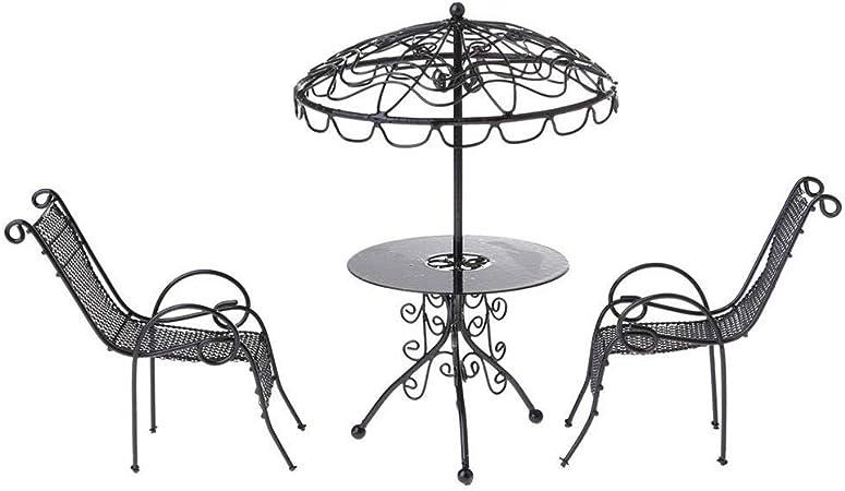 Tavoli Da Giardino Decorati.Kingbeefliu 3pcs Set 1 12 Sedie Da Tavolo Da Giardino In Metallo