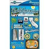 Reminisce Jet Setters 2 3-Dimensional Sticker, California