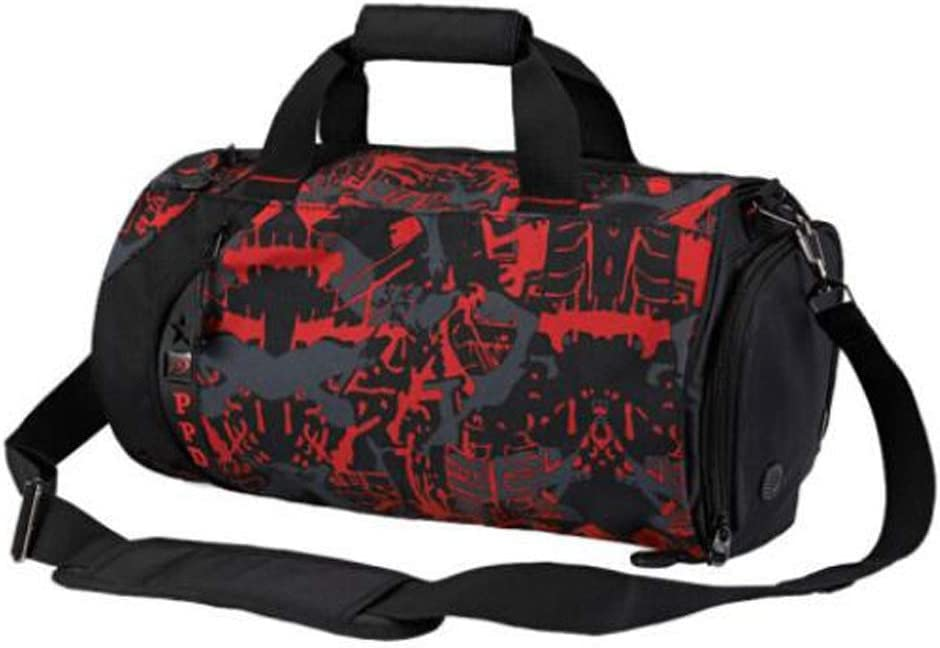 Large-Capacity Travel Bag Large Size: 502626cm Durable Aishanghuayi Sports Bag Wet and Dry Separation Waterproof Gym Bag Crossbody Portable Training Bag Mens and Womens Shoulder Bag