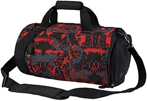 Mens and Womens Shoulder Bag Aishanghuayi Sports Bag Large-Capacity Travel Bag Large Size: 502626cm Durable Crossbody Portable Training Bag Wet and Dry Separation Waterproof Gym Bag