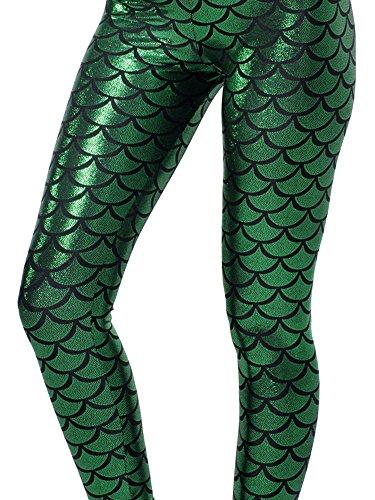Women Sexy Mermaid Fish Scale Hologram Stretch Soft - Mermaid Scale Leggings
