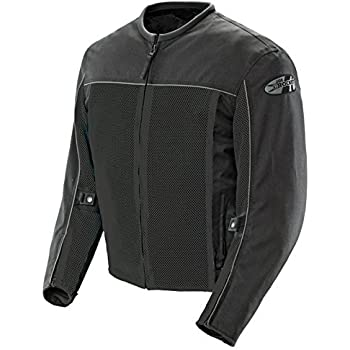 Joe Rocket Velocity Men's Mesh Riding Jacket (Black, Large)