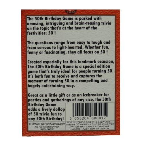 Durable Service The 50th Birthday Game Fun Party Idea Also A Uniquely