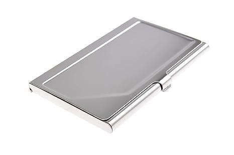 Tarjetero/Estuche para tarjetas de visita, hecho de acero inoxidable de alta calidad, con diseño de los años 20, 310 (DE)