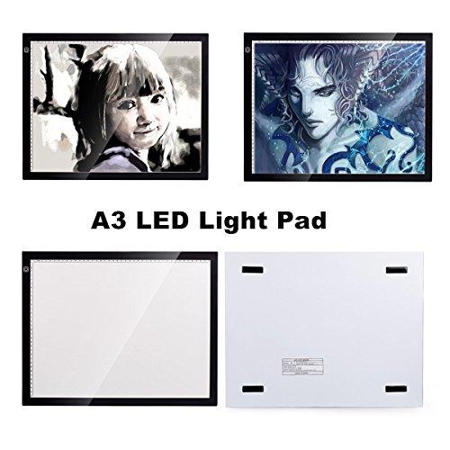 A3 Tracing Light Box, CCTRO Portable LED Artcraft Tracing