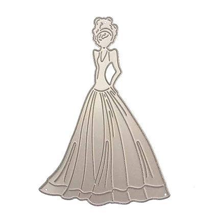 Wedding Dress Metal Cutting Dies Stencil Scrapbooking Embossing Card Craft DIY