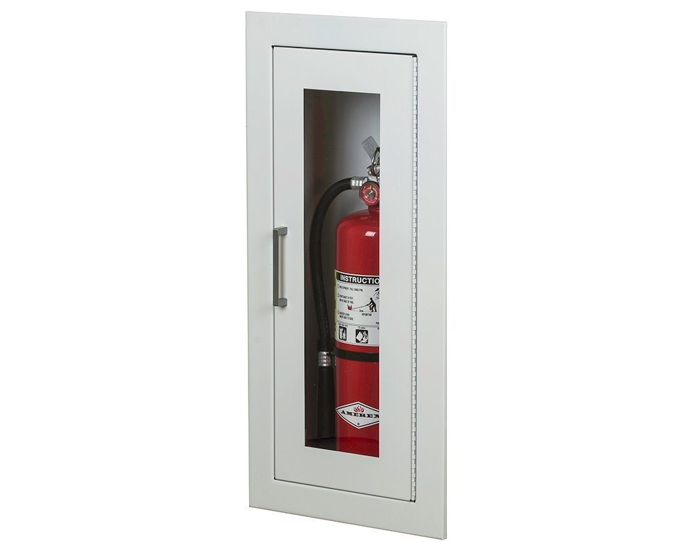Larsens 2409-R7 Semi-Recessed Architectural Series Fire Extinguisher Cabinet by Larsen's