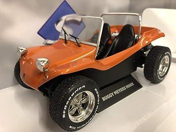 Solido Meyers Manx Buggy-Soft Roof Orange-1/18-S1802702 - Coche en Miniatura de colección, Color Naranja