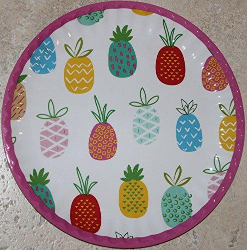 Cynthia Rowley 100% Melamine Pineapples Lightweight 10-1/2