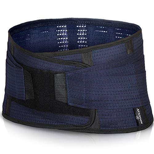 Back Support Lower Back Brace Provides Back Pain Relief - Breathable Lumbar Support Belt for Men and Women Keeps Your Spine Straight and Safe (Large - 38''- 45