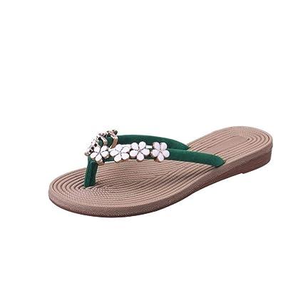 ZHRUI Sandalias para Mujer, Zapatillas Gladiator Wedge Tan Plataforma de Dedo del pie Cerrado Brillantes
