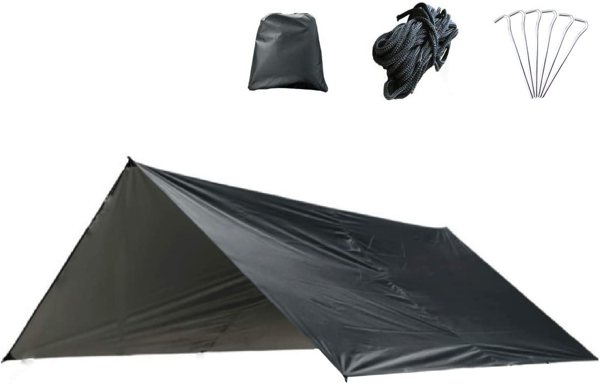 Azarxis Waterproof Camping Tent Tarp Hammock Rain Fly Footprint Ground Cloth Shelter Sunshade Beach Picnic Blanket Mat for Outdoor Camping Park Lawn