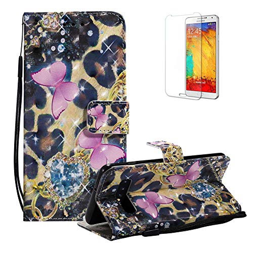 Funyye Magnetic Flip Case for Samsung Galaxy S10 Plus,Elegant 3D Diamond Butterfly Fantasy Painted Design Folio Wallet Pocket with Stand Credit Card Holder Slots Soft Silicone Case for Galaxy S10 Plus
