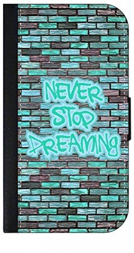 Never Stop Dreaming-Graffiti Word Art-Brick Wall-Aqua- TM...