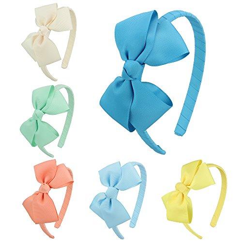 (7Rainbows Girls Boutique Grosgrain Ribbon Headband with)