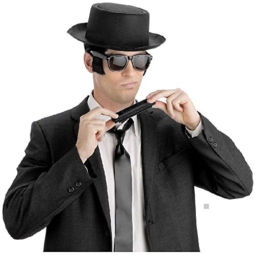Blues Brothers Costume Kit Adult 70s Halloween Fancy Dress