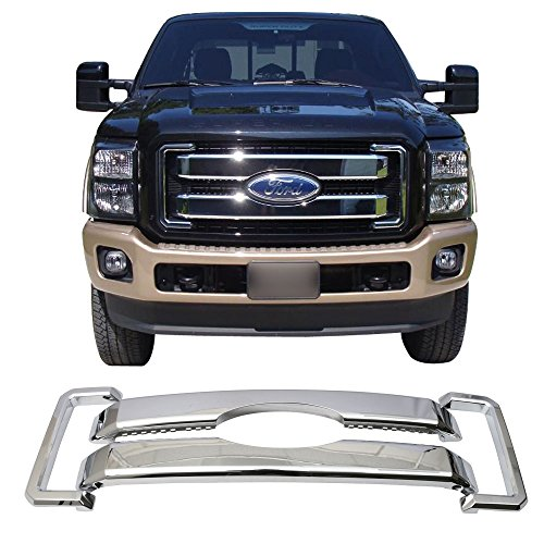 Grille Fits 2011-2016 Ford F-250 F-350 F-450 F-550 Super Duty | ChromeFront Bumper Hood Grill by IKON MOTORSPORTS | 2012 2013 2014 2015