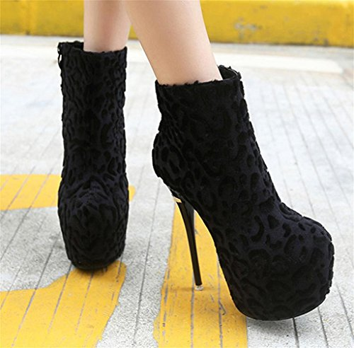 Platform Lace Pump shoes Top Heel Black Fashion MNII Vintage Shoes High Women Black Ankle Bridal Low Party Boots EqwxngIX4