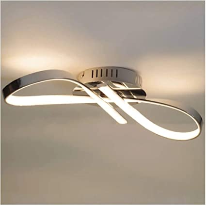 Kosilum Plafonnier Led Design Ruban Infini Chrome Acht