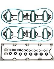 Vincos Engine Intake Manifold Gaskets MIS16340 OS30693R VS50504R-1 MS98016T Engine Gasket Set Compatible with Silverado/Sierra 1500 5.3L 4.8L V8 1999-2013 Yukon XL 1500 6.0L V8 2001-2006