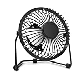Barisc Desk Personal Fan USB Mini Fan with Metal Blades, Quiet and Cool Table Fan for Home, Office and Dorm