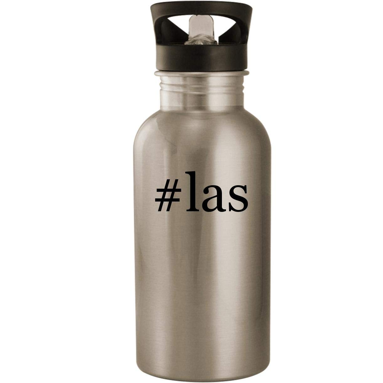 #las - Stainless Steel Hashtag 20oz Road Ready Water Bottle, Silver