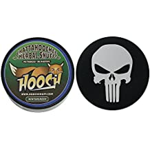 Hooch Herbal Snuff or Chew - 1 Can - Includes DC Skin Can Cover (Wintergreen Fine) (Punisher Skin)