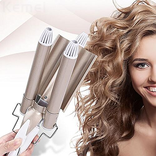 Hair Curler Hair Curling Iron Ceramic Triple Barrel Irons Hair Wave Waver...