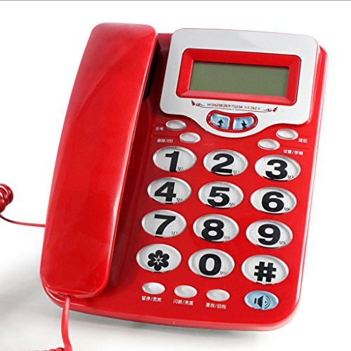 BLRYP Telephone Old Telephone Ringtones Caller ID Home Office Wired Phone Fixed Telephone Home,Office,Business,Enterprise,School,Classic (Color : A)