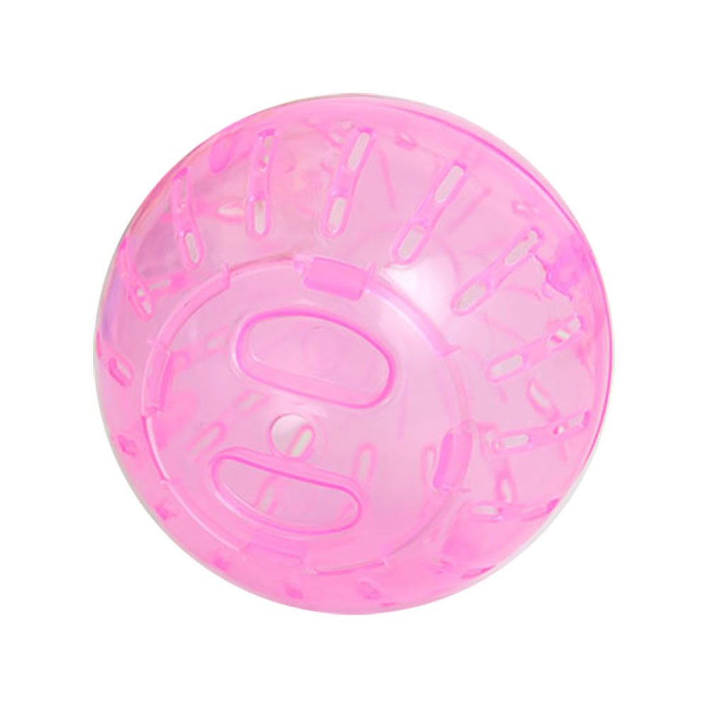 (Pink) Pevor Pet Hamster Exercise Ball Safe Jogging Play Cage Hamster Mini Roll-Around Rolling Ball Toy for Small Pet, Dia 10cm