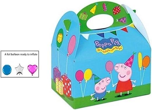 24 x PEPPA PIG fiesta comida caja~llevar comida para niños fiesta ...