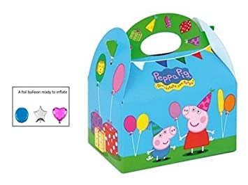 12 x PEPPA PIG PARTY MEAL BOX Childrens Kids Carry Food ...