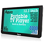 12-Inch-HD-Portable-Digital-DVB-T2-TFT-HD-Screen-Freeview-LED-TV-for-CarCaravanCampingOutdoorKitchenBuilt-in-4000mAh-Battery-TelevisionMonitor-with-Multimedia-Player-FM-function-USB-card-ASPURE