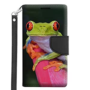 Microsoft Lumia 640 Wallet Case - Red Eye Tree Frog