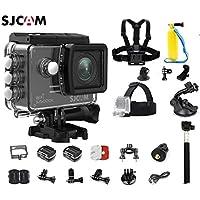 SJCAM SJ5000X KitsIncluding Extra Battery,5 in 1 Accessories SJ5000X Elite WiFi 4K 24fps 2K30fps Gyro Sports DV 2.0 LCD NTK96660 Diving 30m Waterproof Action Camera (Black)