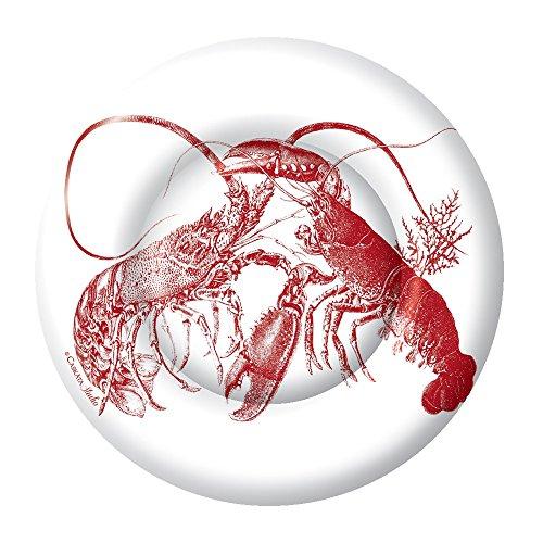 Boston International 8 Count Caskata Studio Round Paper Dinner Plates, Red Lobster